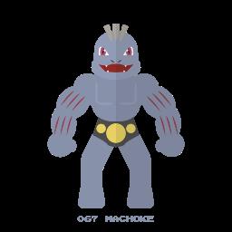 fight, kanto, machoke, pelea, pokemon icon