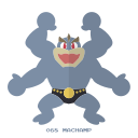 fight, kanto, machamp, pokemon icon