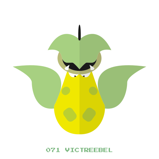 grass, hierba, kanto, pokemon, victreebel icon