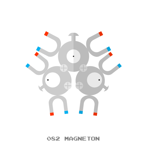 electr, kanto, magneton, pokemon icon