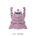grimer, kanto, poison, pokemon icon