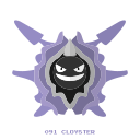 cloyster, kanto, pokemon, water icon