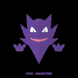 ghost, haunter, kanto, pokemon icon