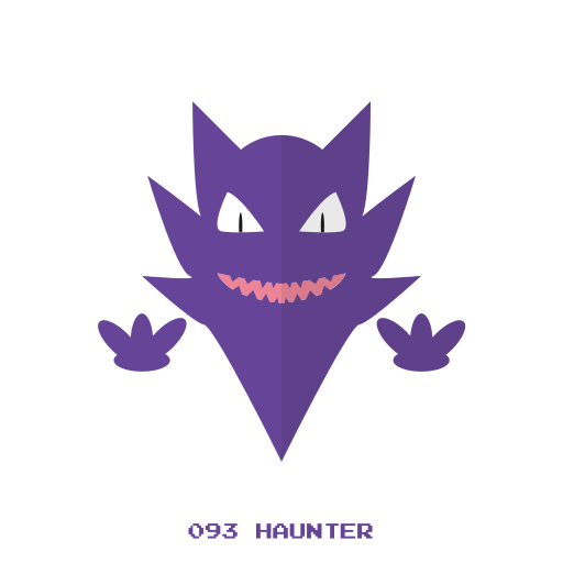 ghost, haunter, kanto, pokemon icon