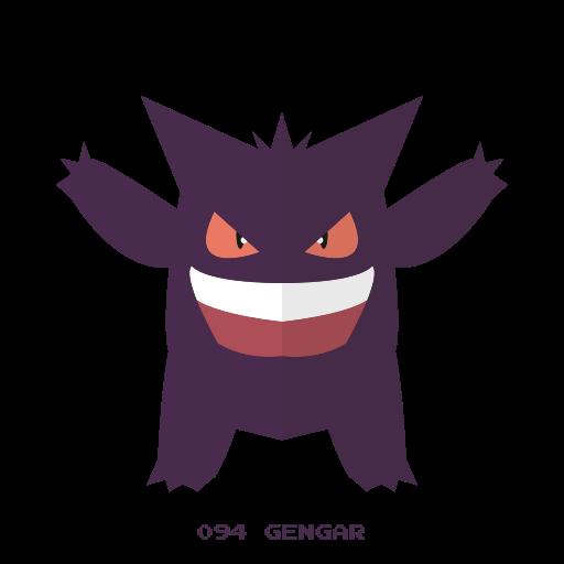 gengar, ghost, kanto, pokemon icon