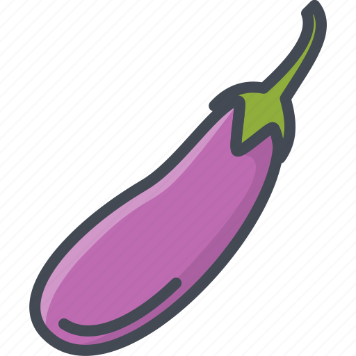 eggplant, food, vegetables icon