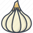 food, garlic, vegetables icon