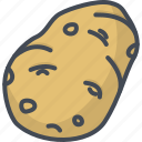 food, potato, vegetables icon
