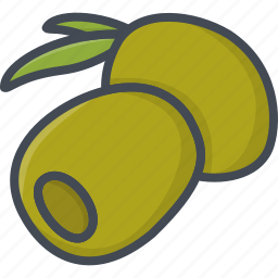 food, olive, vegetables icon