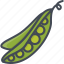 food, peas, vegetables icon