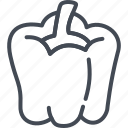 food, pepper, vegetables icon
