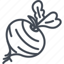 beetroot, food, vegetables icon