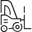 delivery, shipping, stacker, transport, transportation, vehicle icon