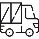 car, delivery, logistics, shipping, transportation, truck, vehicle icon
