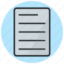 chart, document, note, paper, report icon
