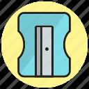 education, school, sharpner, stationary, tool icon