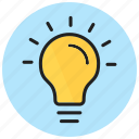 bulb, business, creativity, idea, light, seo icon