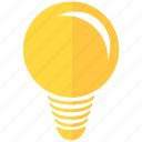 bulb, design, development, electric, lighting, solution, thread idea icon
