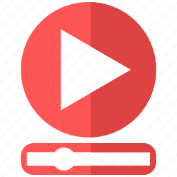 communication, control, media, play, slider, video, youtube icon