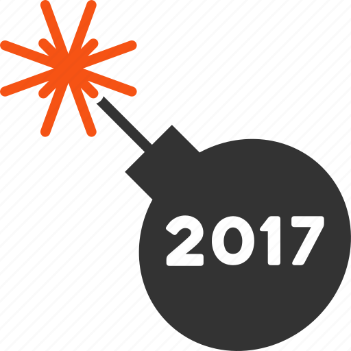2017 year, cracker, festival, firecracker, firecrackers, grenade, petard icon