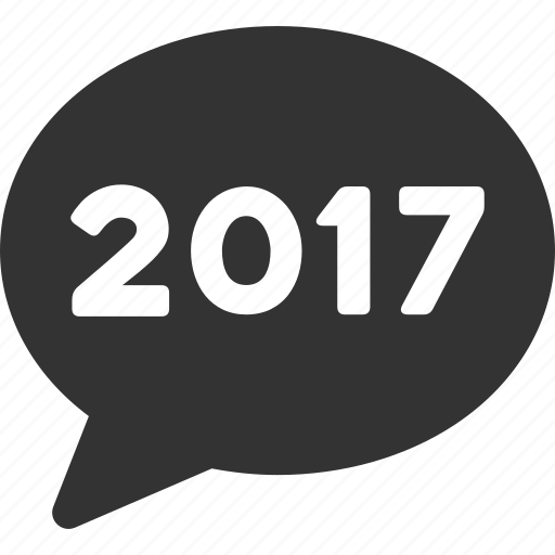 2017 year, balloon, chat, comment, communication, forum, message icon