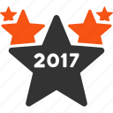 2017 year, award, hit parade, rate, rating, star chart, stars icon