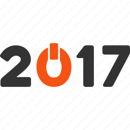 2017 year, caption, digits, label, switch on, text, word icon