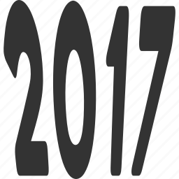 2017 year, caption, digits, label, tag, text, word icon