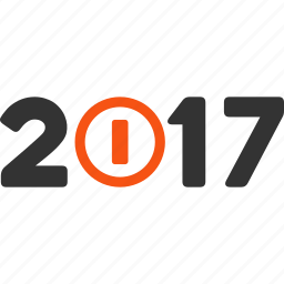 2017 year, caption, label, tag, text, turn on, word icon