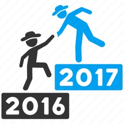 2017 year, business stairs, education steps, levels, progress, training, up stair icon