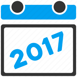 2017 year, appointment, calendar, diary, leaf, plan, schedule icon