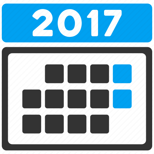 2017 calendar, appointment, days, grid, month, schedule, time table icon