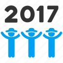 2017, dance, friends, gentlemen, people, persons, user profiles icon