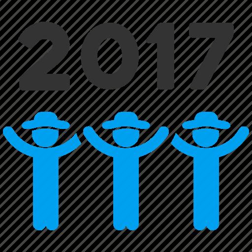 2017, dance, friends, gentlemen, people, persons, user profiles icon