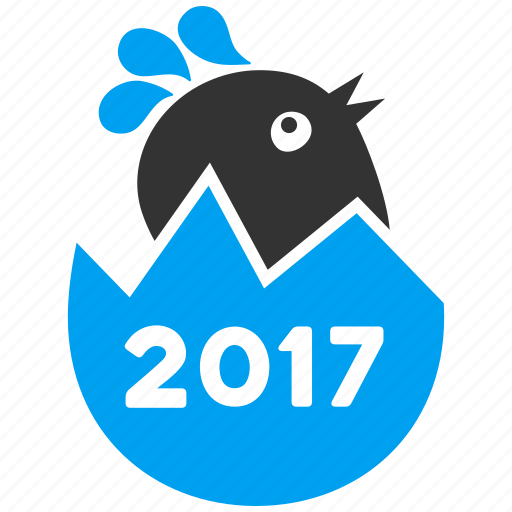 2017 year, chick, chickling, chuck, cute bird, hatch, spring chicken icon