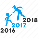 annual steps, business training, career, friends, help, staircase, up stairs icon
