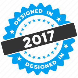 2017 year, certificate, design quality, designed, guarantee, round seal, rubber stamp icon
