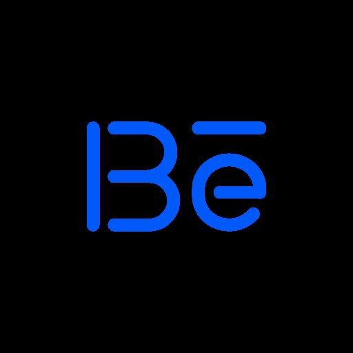 be, behance, media, social icon
