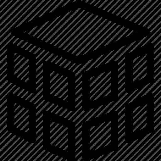 box, cube, cubic, three dimension icon