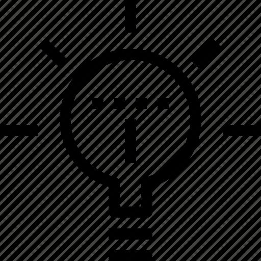 bright, bulb, creativity, idea, light, think icon