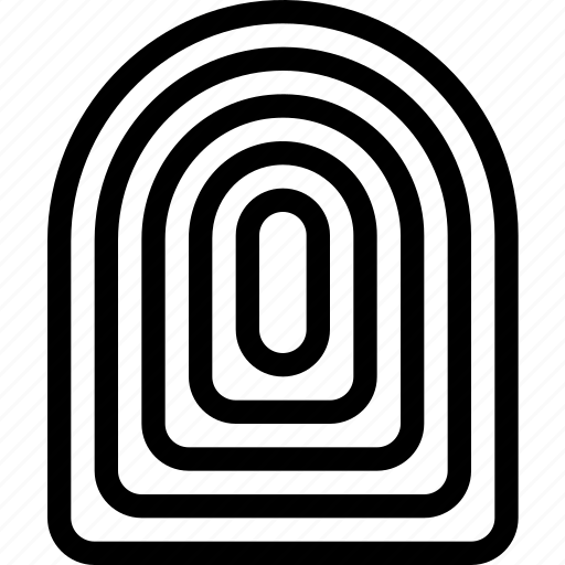 fingerprint, id, identification, security icon