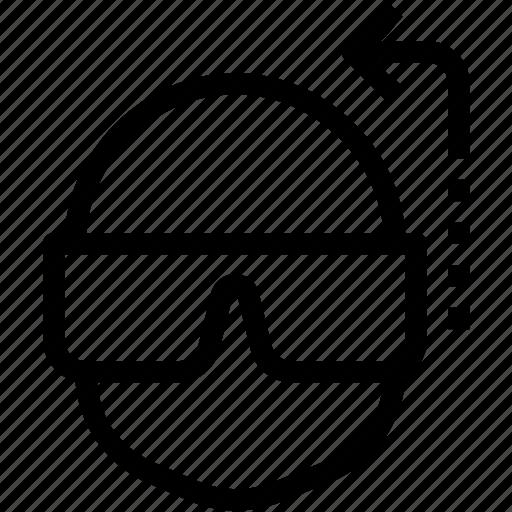 command, glasses, head, signal icon