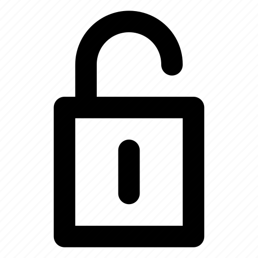 Interface, privacy, protected, security, unlock icon - Download on Iconfinder