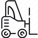 car, delivery, shipping, stacker, transport, transportation, vehicle icon