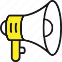 advertising, announcement, bullhorn, megaphone, promotion icon