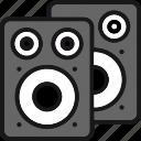 audio, loudspeakers, media, music, sound, speaker, volume