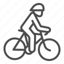 bike, bicycle, cyclist, wheel, sport, human, helmet