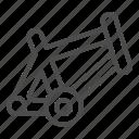 frame, bike, bicycle, chassis, part, base, metal