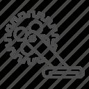 bike, gear, mechanism, star, part, bicycle, scallop