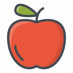 apple, food, fruits, sticker icon